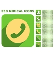 Phone Number Icon and Medical Longshadow Icon Set vector image vector image