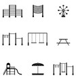 playground icon set vector image vector image