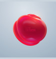 red glossy organic bubble vector image