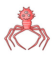red virus icon in cartoon style isolated on white vector image vector image