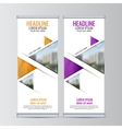 Roll up business banner design vertical template vector image