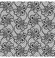 seamless flower lace pattern on white background vector image vector image