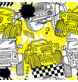 seamless grunge offroad pattern vector image vector image