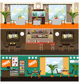 set of pub restaurant interior concept vector image vector image