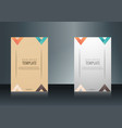 sets of vertical business card print template vector image vector image