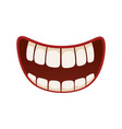 smile icon pleased kind amused face expression vector image vector image