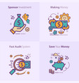 sponsor investment concept icon making money vector image