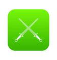 swords icon digital green vector image