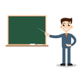 Teacher man on lesson vector image vector image