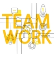 Teamwork concept infographic vector image