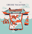 Vacation on a Cruise vector image vector image