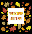 welcome autumnsales banner with leaves leafs i vector image