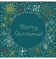 Abstract green Christmas ball background vector image