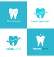 dental clinic logo set vector image