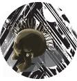 punk skull - mixed media