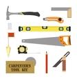 Carpenters Tool Kit vector image