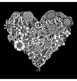 Floral heart Doodle vector image