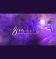 8 march background design with flower and pearl vector image