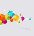 Abstract color cubes background vector image vector image