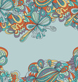 Abstract seamless hand-drawn border vector image vector image