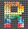 Alphabet of colorful mosaic vector image vector image