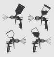 auto body industrial painting spray gun vector image vector image