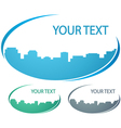 background with city silhouette vector image vector image
