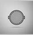 barbecue grill icon isolated on grey background vector image