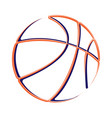 basketball outline silhouette vector image vector image