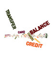 best balance transfer credit cards text vector image vector image