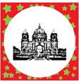 black 8-bit berlin cathedral germany vector image vector image