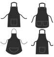 Black apron set isolated on white vector image vector image