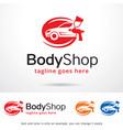 body shop logo template vector image