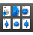 brochure cover design layouts set for business vector image vector image