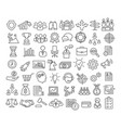 business icons set in line style vector image
