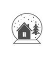 christmas icon christmas glass ball vector image