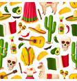 cinco de mayo mexican holiday seamless pattern vector image vector image