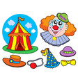 circus clown collection vector image
