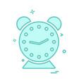 clock icon design vector image