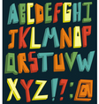 colorful 3d alphabet vector image vector image