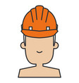 construction worker with helmet vector image