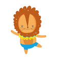 cute lion circus character vector image vector image