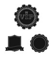 design of emblem and badge icon set of vector image