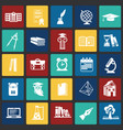 education and stydying set on color squares vector image