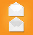 envelope collection orange background vector image