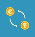 euro and yen currency exchange vector image