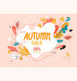 fall sale banner trendy style vector image vector image