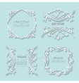 filigree paper cut frames with long shadows vector image