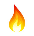 fire icon bright light red design effect vector image vector image