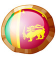 flag of srilanka in round frame vector image vector image